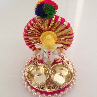Haldi Kumkum Holder with Ganpati