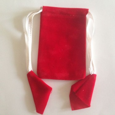 Rectangular Pouch Velvet Red 10 Nos