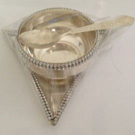 Silver Plated Bowl & Spoon