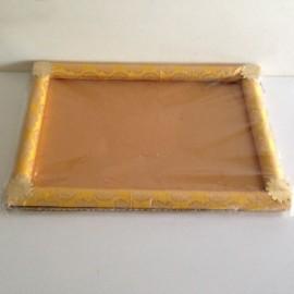 Decorated Tray Rectangular Golden