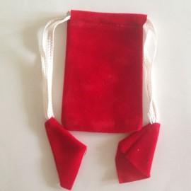 Rectangular Pouch Velvet Red 10 Nos
