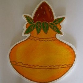 Munj Vinyl Cut-out Kalash