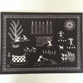 Warli Painting Table Mats