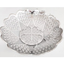 Round Silver Bowl Tray G