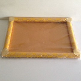 Decorated Tray Rectangular Golden